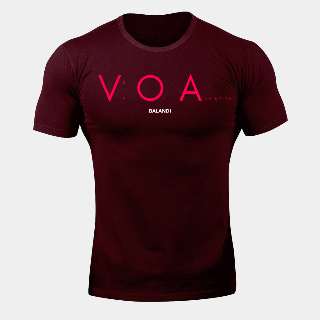 Balandi Gym VOA T-Shirt - Red Workout Fitted T-Shirt | Cheap Tee
