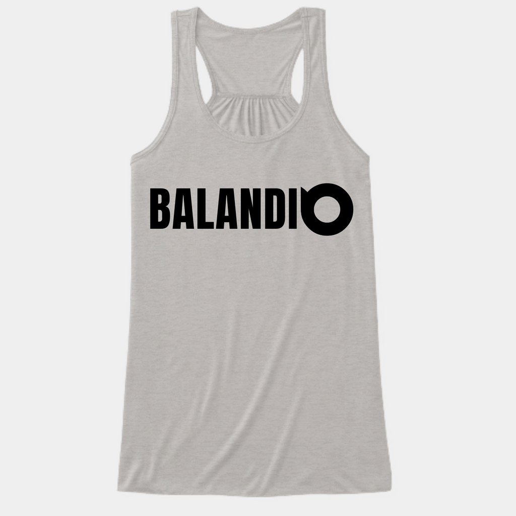 Workout Racerback Women Grey Tank Top | Balandi Women | Fitness Tank