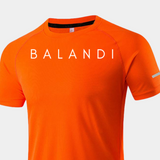 Visionary Orange T-shirt | Workout Shirt - Short Sleeve Gym Shirt | Balandi
