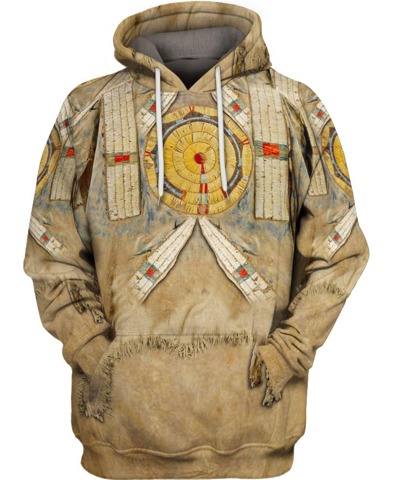 Brown Printed Fur Native Style