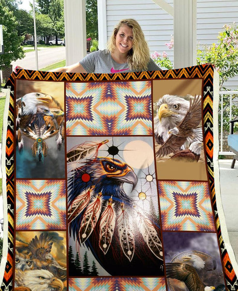 Native Eagles Fleece Blanket