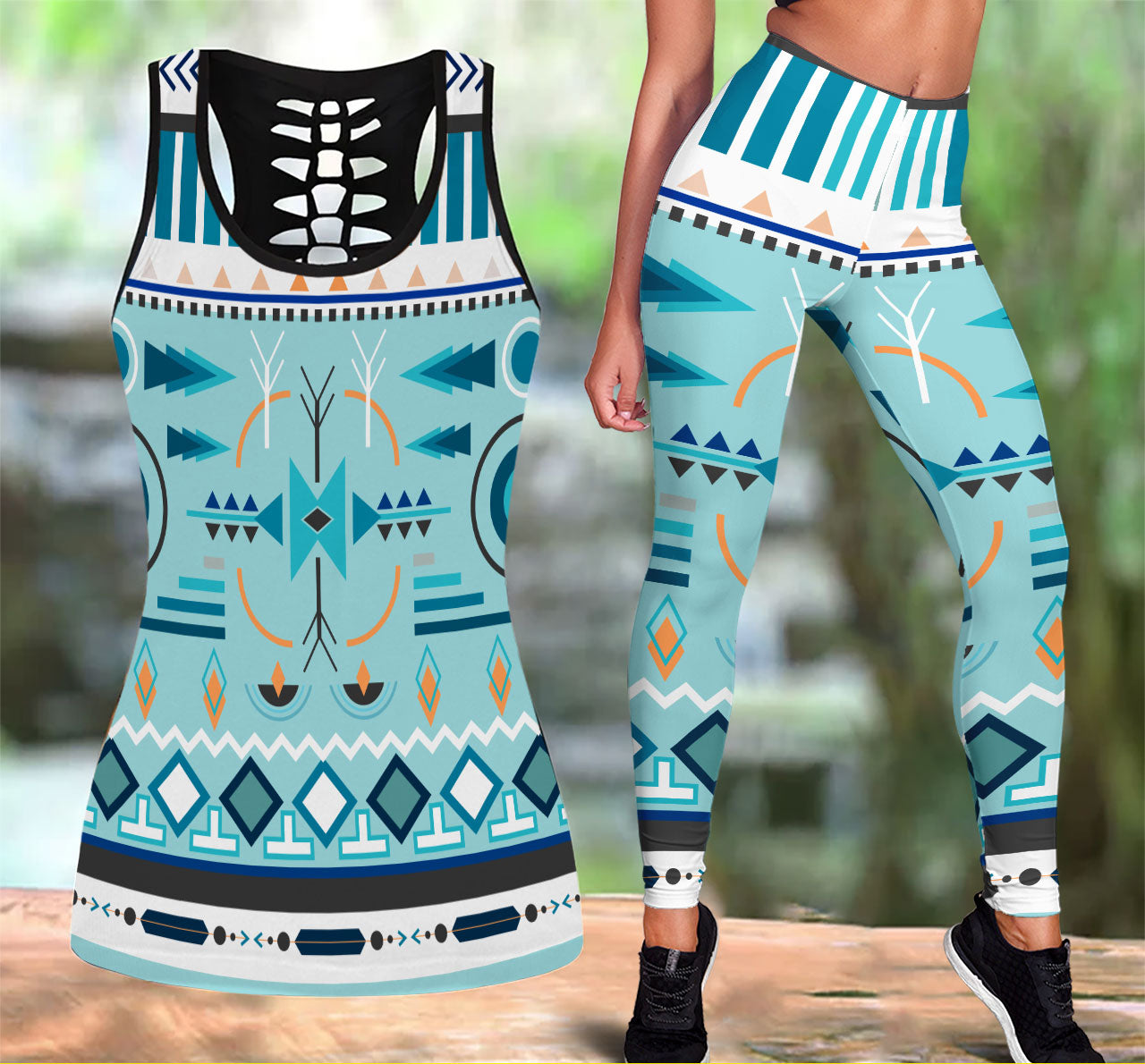 Native American Tank Top & Legging Set 08