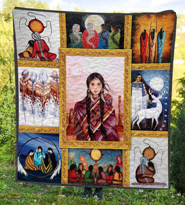Woman Native Quilt
