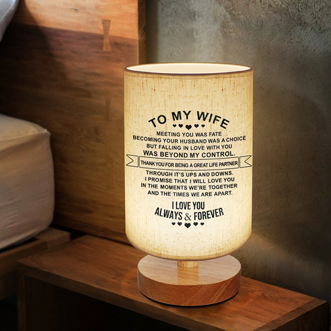 Bedside Night Lamp For Wife