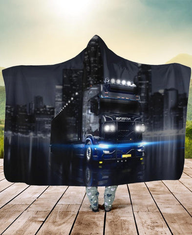 Trucker City Hooded Blanket