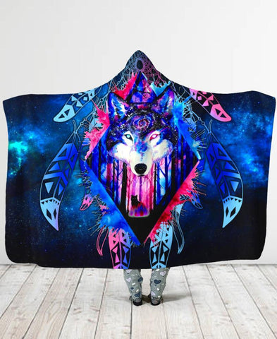 Wolf Galaxy Hooded Blanket