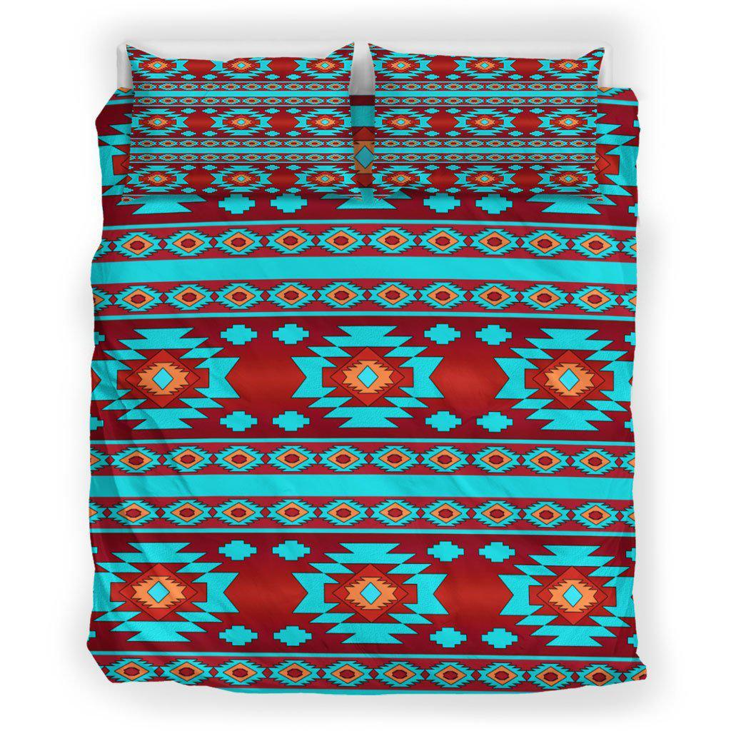 Red & Turquoise Native Pattern
