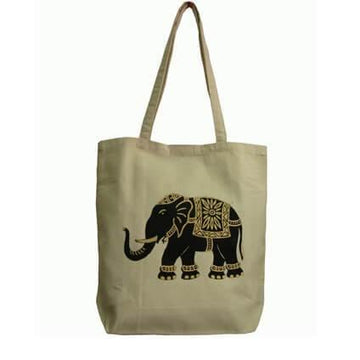 Gold Painted Elephant Bag