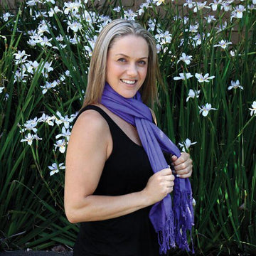 Purple Silk Scarf - The Leprosy Mission Australia Shop