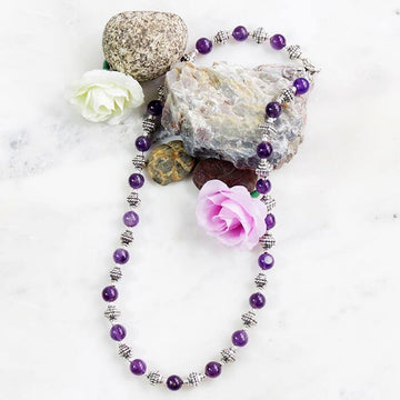 Violet Amethyst Necklace - The Leprosy Mission Australia Shop