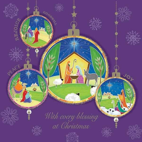 Nativity Baubles Cards