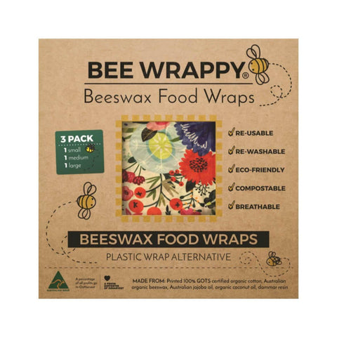 Beeswax Food Wraps Pack of 3