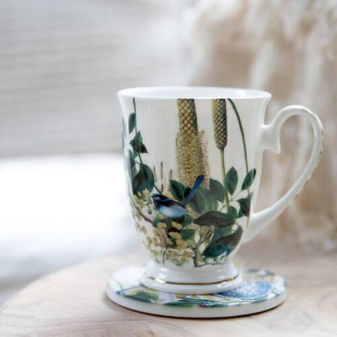 Banksia and Blue Wren Fine Bone China Mug (Promo)