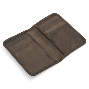 Brown Leather Slimline Card Wallet - The Leprosy Mission Australia Shop