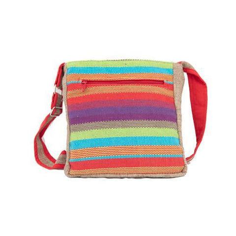 Embroidered Multicoloured Shoulder Bag