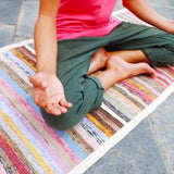 Recycled Sari Exercise Mat