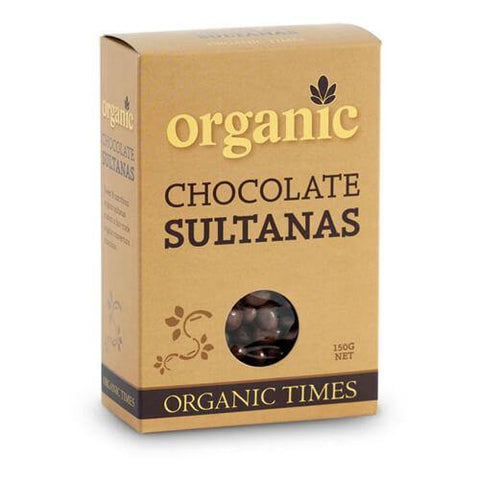 Organic Milk Chocolate Sultanas - The Leprosy Mission Australia Shop