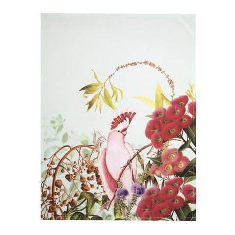 Flowering Gum and Pink Cockatoo Tea Towel (Promo)