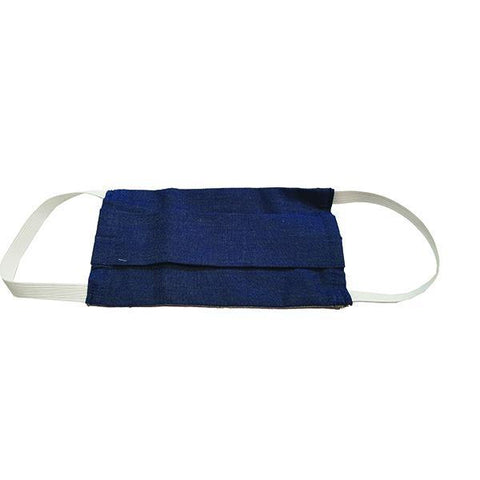 Fabric Face Mask with Filter Pocket - Denim