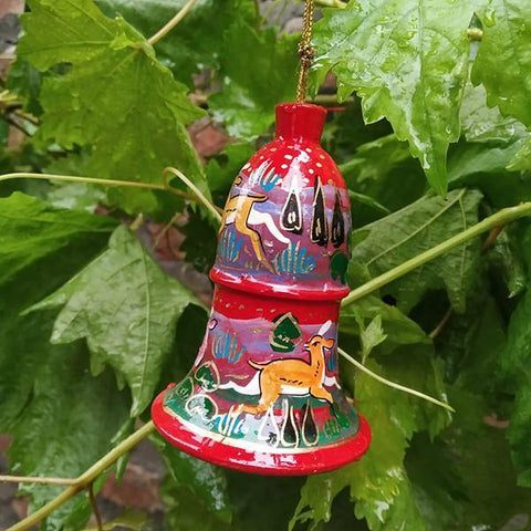 Red Christmas Bell Ornament