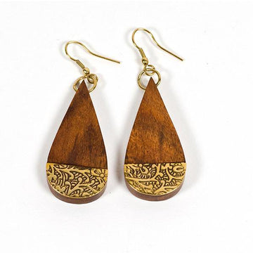 Earth and Fire Teardrop Earrings - The Leprosy Mission Australia Shop