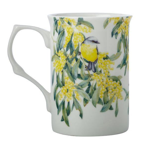 Yellow-bellied Robin & Wattle Mug