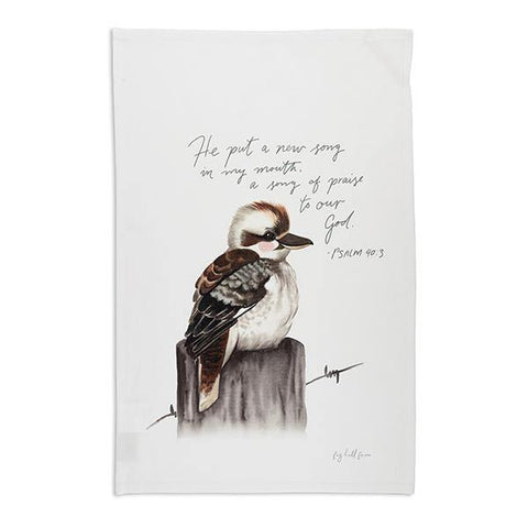 Kookaburra Prayer Tea Towel
