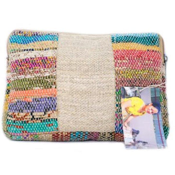 Recycled Sari Make Up Bag - The Leprosy Mission Australia Shop