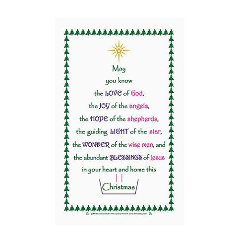 Festive Blessings Tea Towel