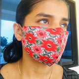 Red Geometric Face Mask - The Leprosy Mission Australia Shop