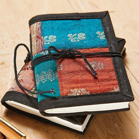 Brocade Covered Handmade Paper Notebook