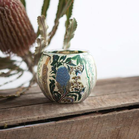 Banksia and Blue Wren Tealight Holder