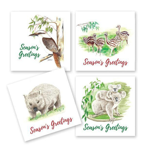 Aussie Animals Greetings Card 4 Pack
