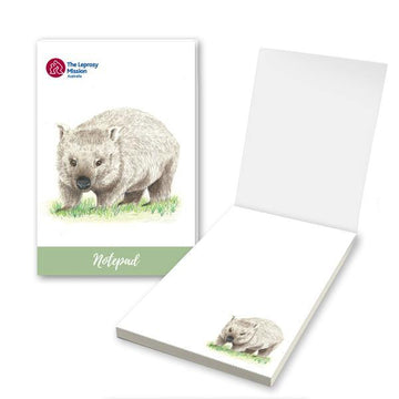 Wombat Notepad - The Leprosy Mission Australia Shop