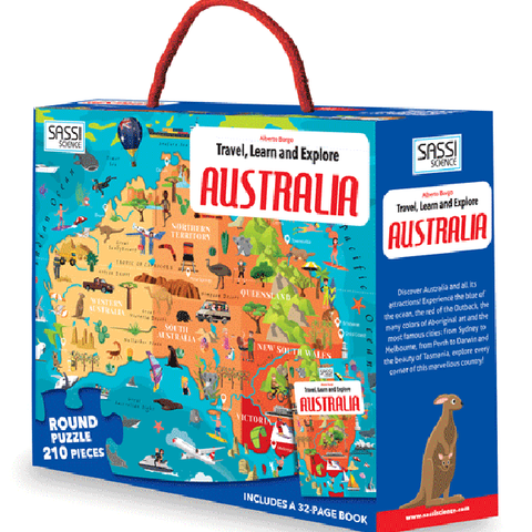 Travel, Learn and Explore Puzzle & Book Set