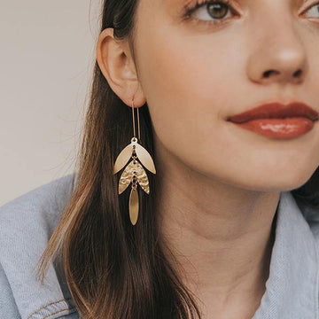 Chameli Leaf Drop Earrings - The Leprosy Mission Australia Shop