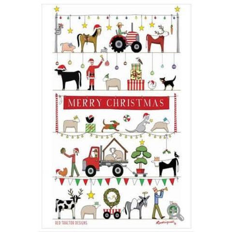 Christmas Parade Tea Towel