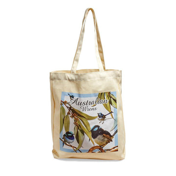 Blue Wren Calico Bag