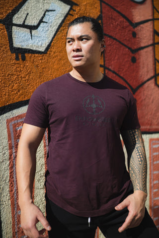 Empowered Original Tee - Oxblood Red