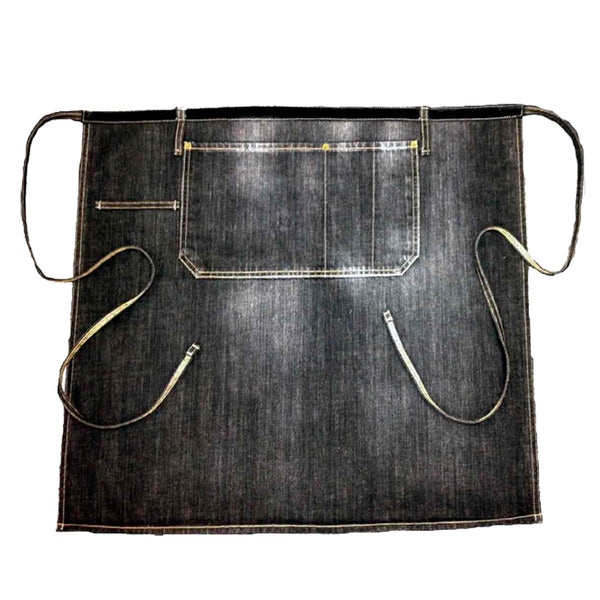 Black denim waist apron | Golden Monkey - Golden Monkey