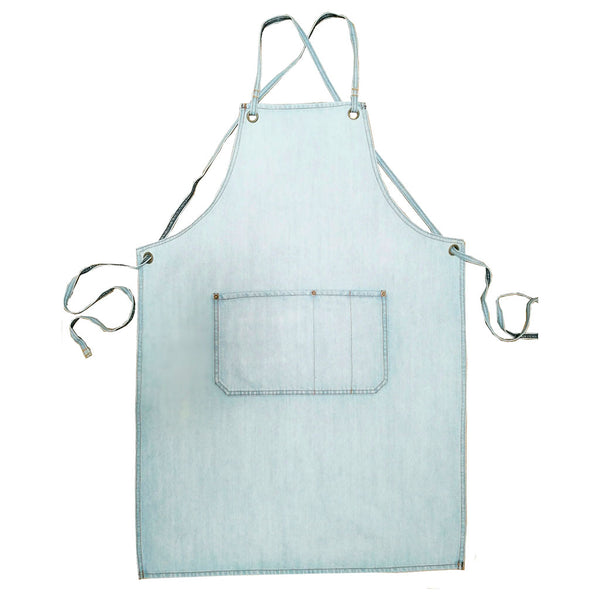 Superbleach wash cafe style apron front view