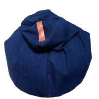Denim Organic Bean Bag Cover with Leather Handle | Golden Monkey