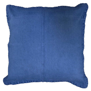 Scatter Cushion in GOTS Certified Organic Denim in Dark Vintage Wash | Golden Monkey