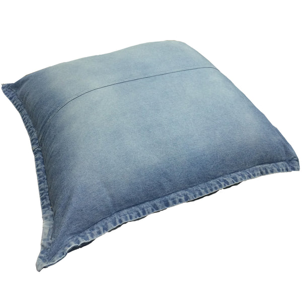 Jumbo Denim Floor Cushion in GOTS Certified Organic Cotton | Golden Monkey