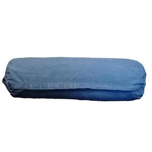 GOTS certified organic cotton yoga bolster cover zip view