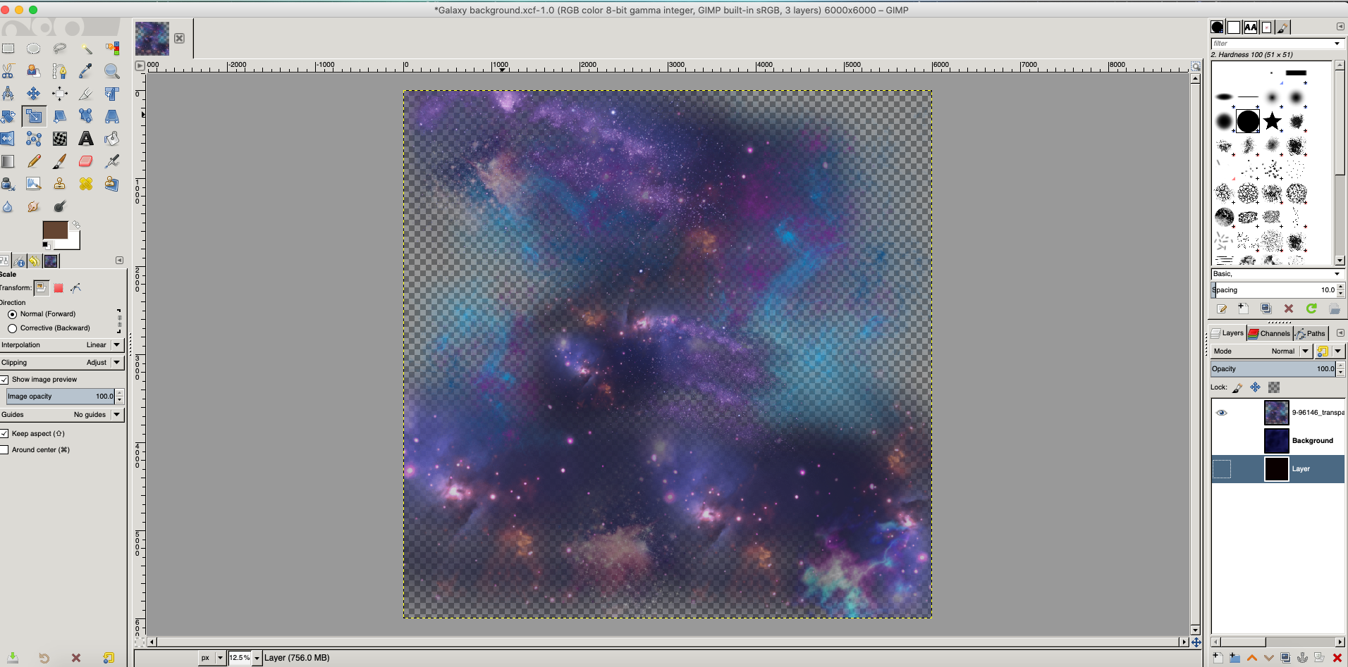 Using GIMP For Universe Cat