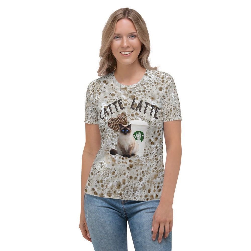 Catte Latte Foam Women's T-shirt