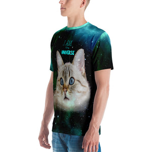 Universe Cat Galaxy Print I am the Universe Cat Shirt