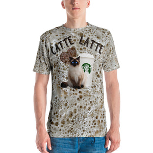 Catte Latte with all over foam Men's T-shirt
