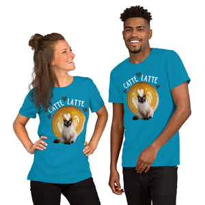 Catte Latte heart Siamese Cat shirt Short-Sleeve Unisex T-Shirt